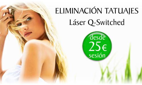 Precio de eliminar tatuajes con Láser Q-Switched de la Clínica Dual de Valencia