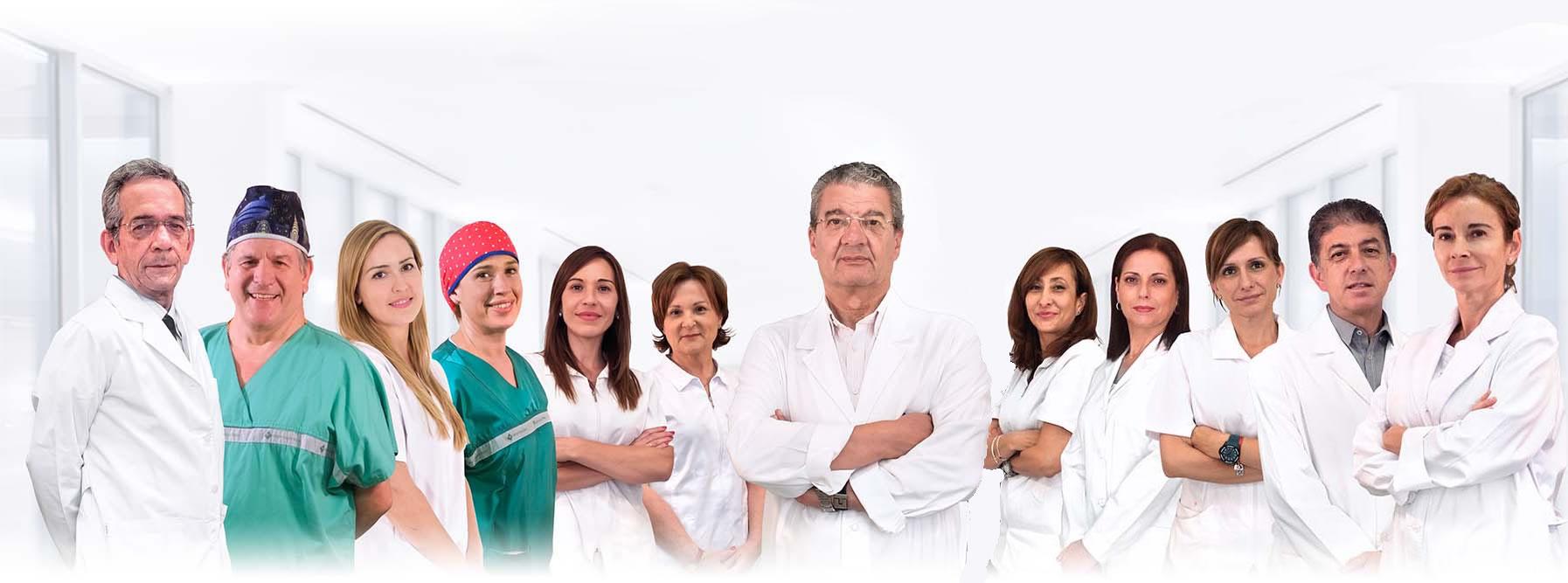 Equipo Humano de la Clínica Dual de Cirugía Plástica y Tratamientos estéticos de Valencia