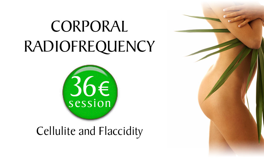 Corporal Radiofrequency Cellulite and Flaccidity treatment prices at Clínica Dual in Valencia