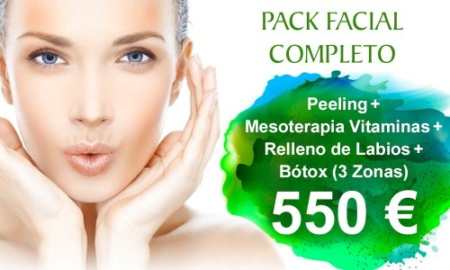 Pack de Tratamientos Faciales Completo: Relleno de labios, Bótox, Peeling y Mesoterapia Vitaminas | Clínica Dual en Valencia