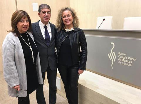 Los doctores Carmen Saiz, José Folch y Carmen Sánchez, directores de la 9ª edición del Máster Medicina Estética de la Universidad de Valencia