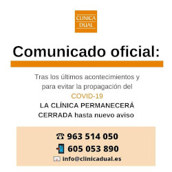 clinica cerrada hasta nuevo aviso - clinica dual