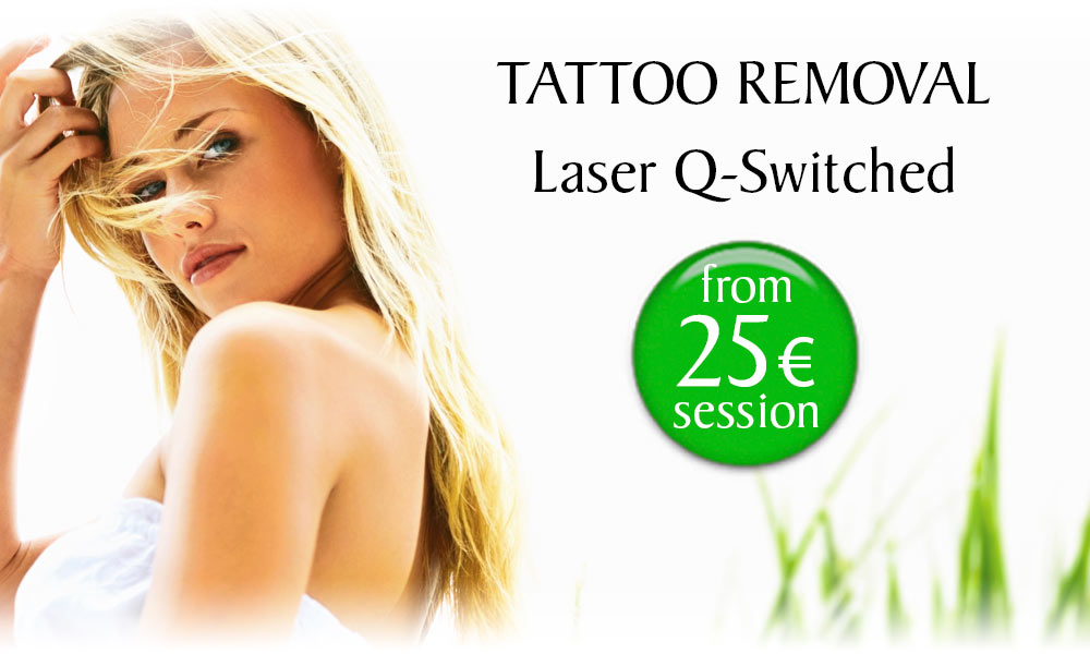 Q-Switched Laser Tattoo Removal treatment prices at Clínica Dual in Valencia