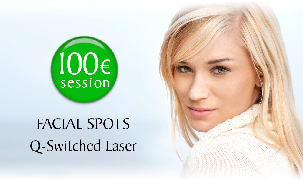 Q-Switched Laser Facial Spots Removal treatment prices at Clínica Dual in Valencia